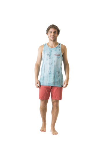 Beach Shack Blue Tank Top