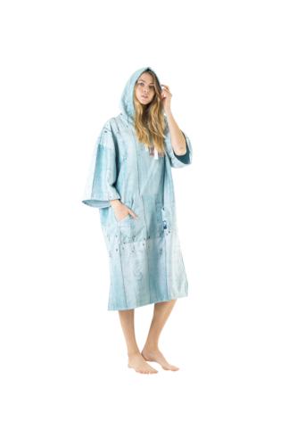 Poncho Towel Beach Shack Blue